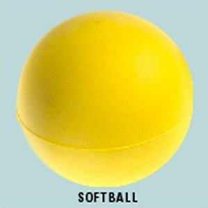 Yellow foam 70mm soft ball